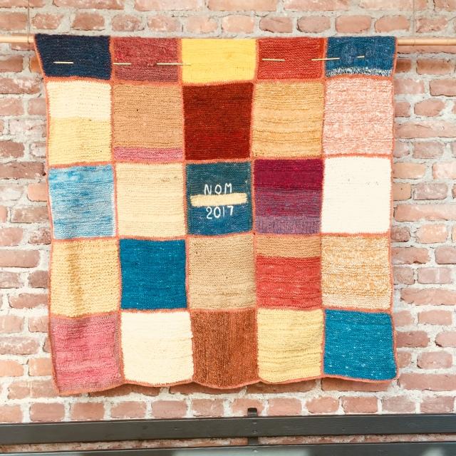 Crochet wool blanket