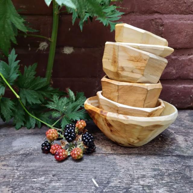 carved wooden bowls